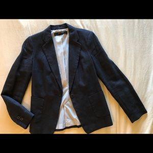 Zara Women's Blazer Navy Tweed